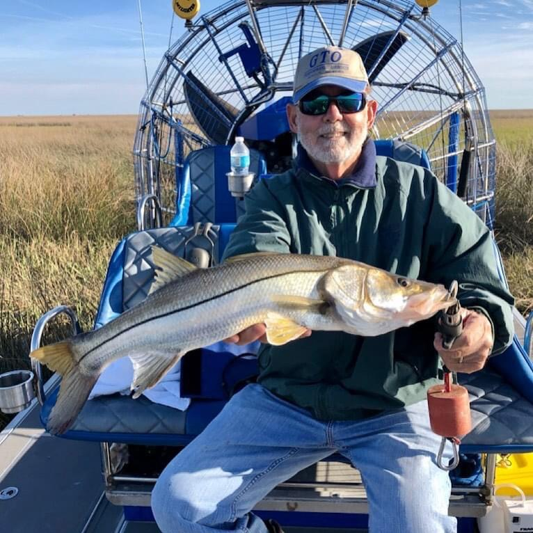 Bob as happy as can be with this beaut of a Snook
