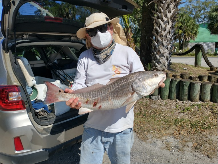 Frank with a nice 8.5 lb Redfish
