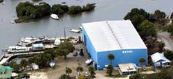 Cedar Key Marina from the air